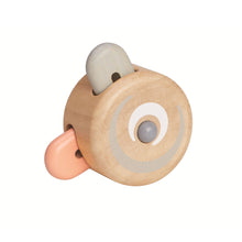 peekaboo roller wooden toy opposite