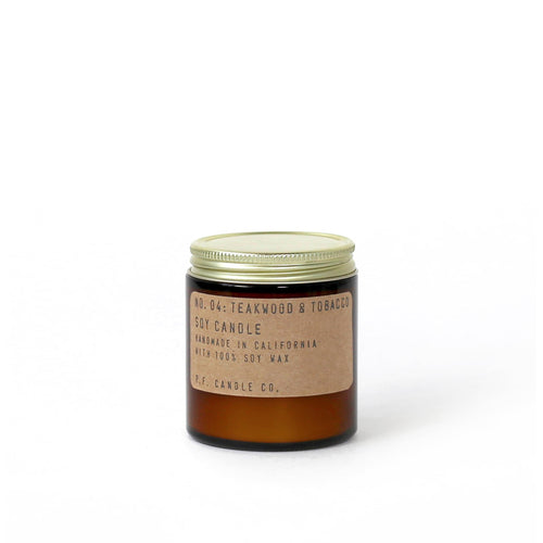 PF Candle Co - No. 04 Teakwood & Tobacco 3.5 oz Soy Candle
