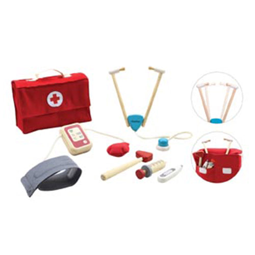plan toys doctors set kit wooden toy