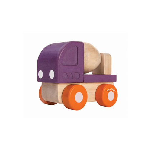 plan toys mini cement mixer wooden toy