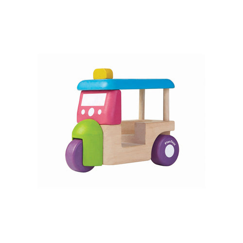 plan toys mini tuk tuk wooden toy