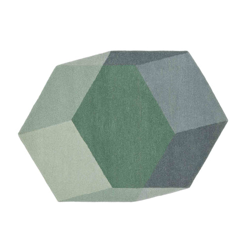puik iso hexagon green rug