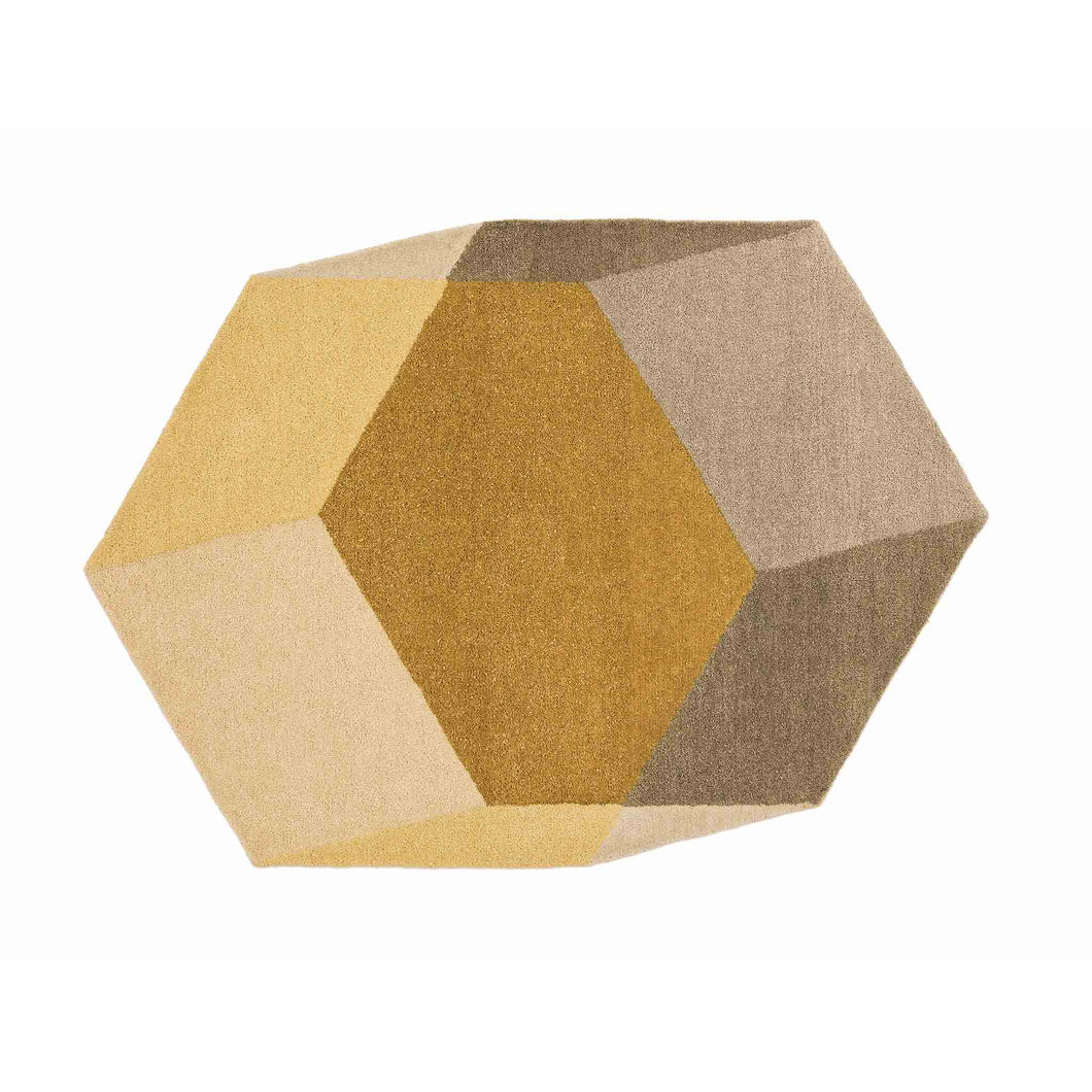 puik iso hexagon yellow rug