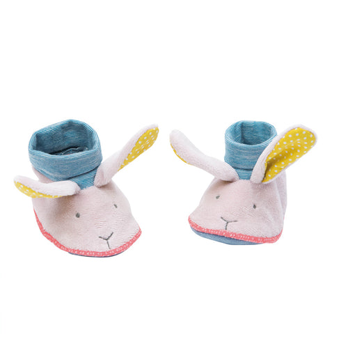 Moulin Roty - Rabbit slippers, yellow ears