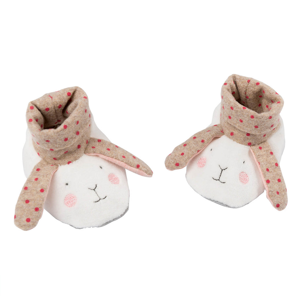 rabbit slipper booties pink