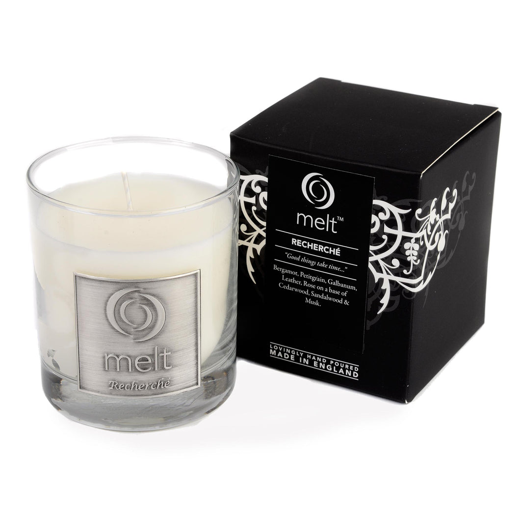 recherche scented luxury glass jar candle by melt