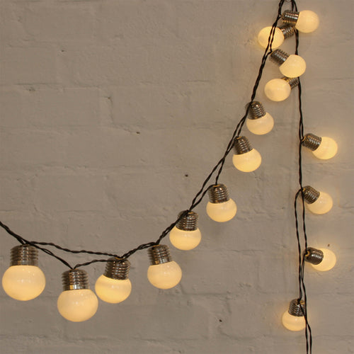 retro light bulb pop fairy lights warm white