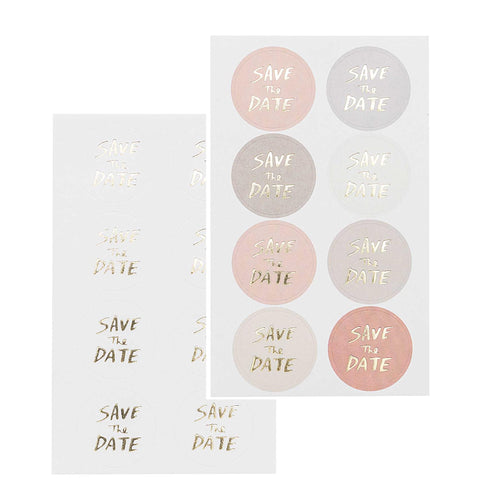 Rico - Paper Poetry - Save The Date Stickers