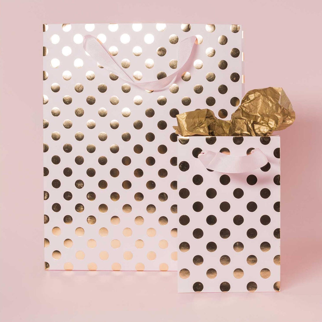 Rico Pink Gift Bag with Gold Foil Dots – Victoria Windsor