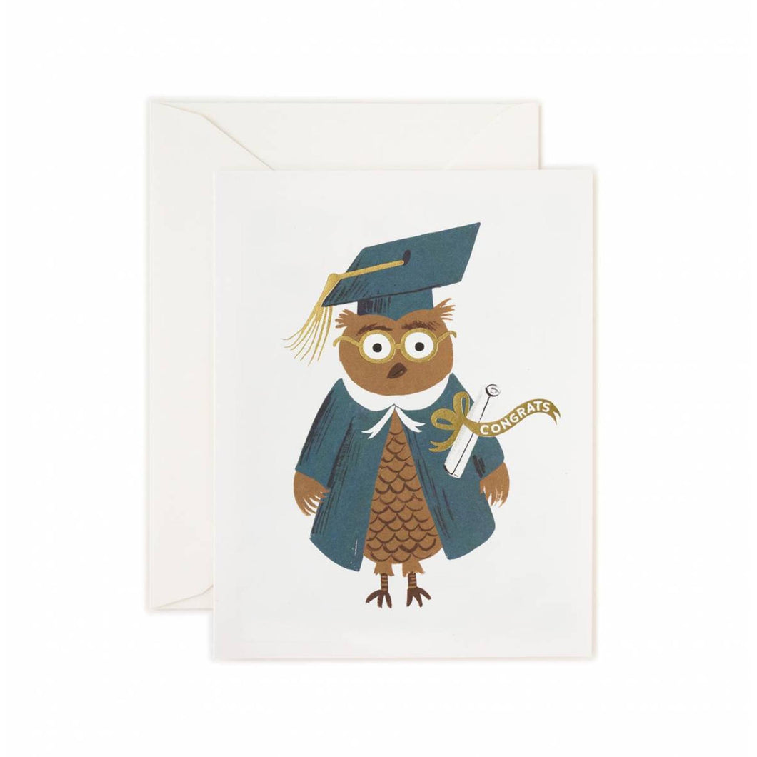 Rifle Paper Co - Congrats Owl Card