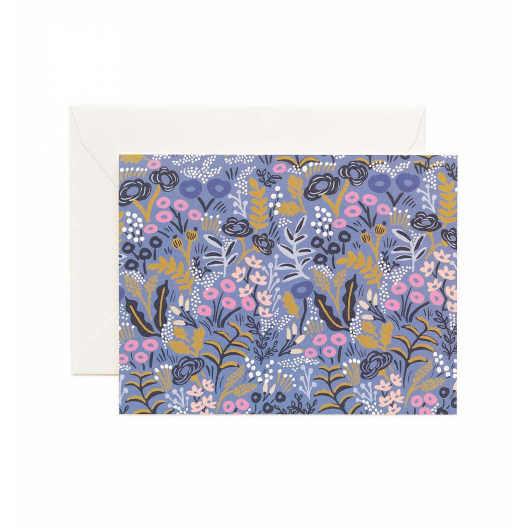 Rifle Paper Co - Tapestry Cobalt Card