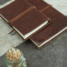 rustic leather journal lifestyle