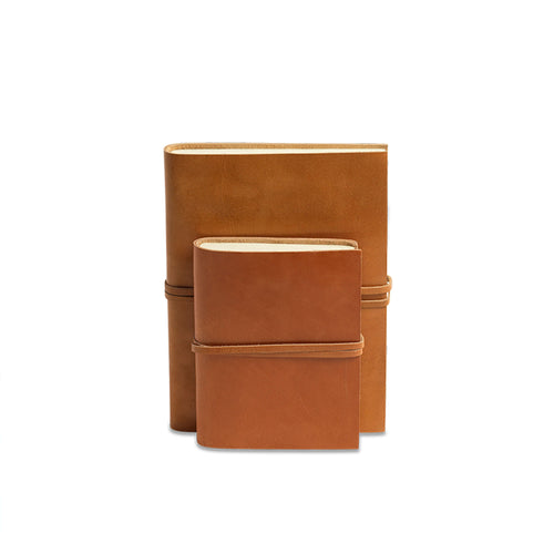 nkuku - Rustic Leather Journal - Tanned - A5