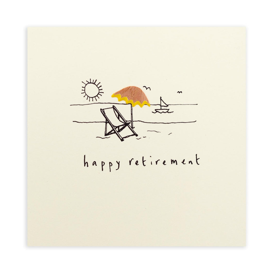 Ruth Jackson - Retirement Deckchair - Pencil Shavings Card