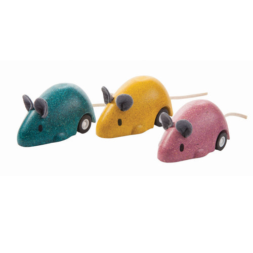 set of 3 moving mouse on wheels