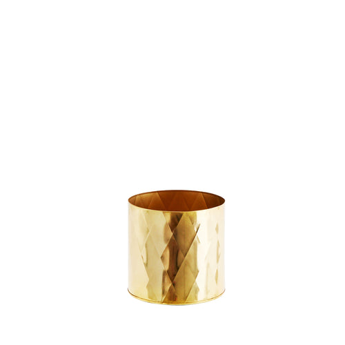 shiny gold harlequin house plant pot