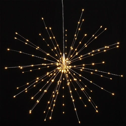 silver hanging starburst light decoration large