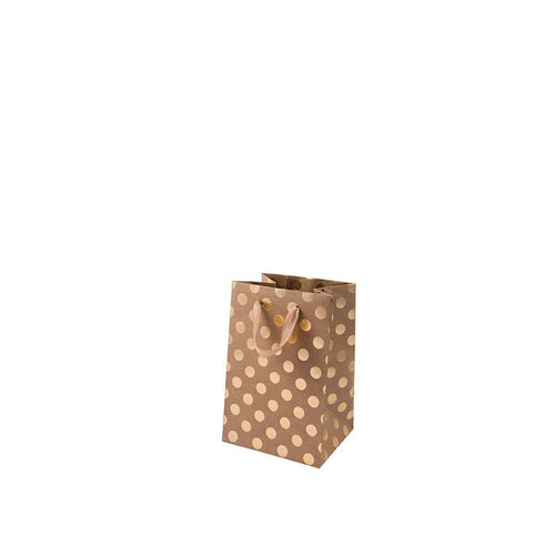 small kraft gold dot gift bag