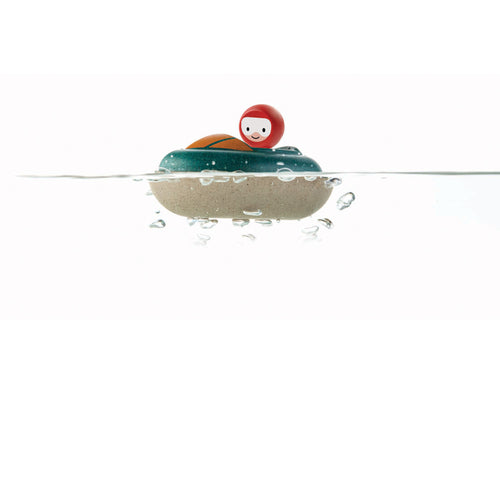 speedboat bath toy wooden