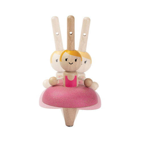 spinning ballerina wooden toy