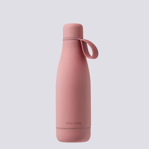 stay sixty blush pink thermal insulated bottle