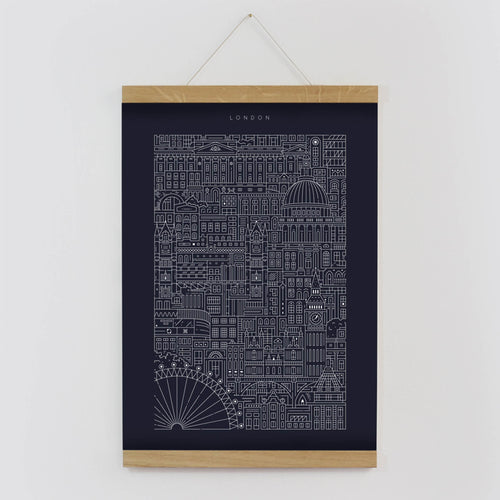 The City Works - London Blueprint - Imperial Blue - A3
