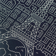 The City Works - Paris Blueprint - Prussian Blue - A3