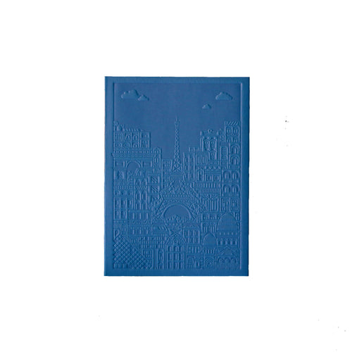 The City Works - Paris Debossed Notebook - Blue - A6