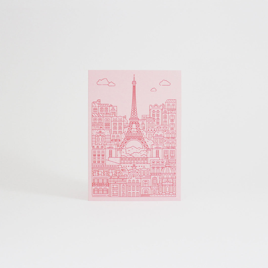 The City Works - Eiffel Tower Card