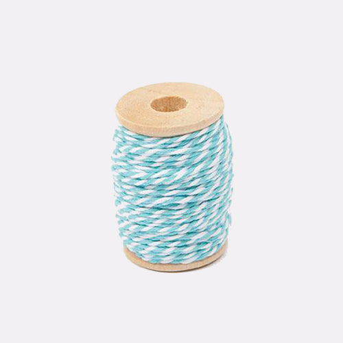 turquoise and white twine