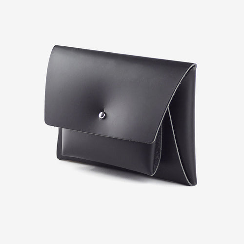 walk with me derren kangaroo wallet leather black
