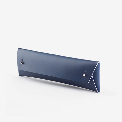 walk with me derren pencil pouch leather navy