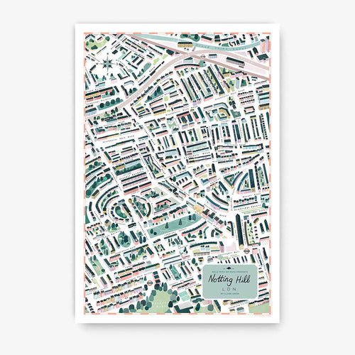 Walk With Me - London Map Print - Notting Hill