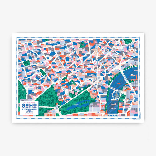 Walk With Me - London Map Print - Soho and Covent Garden
