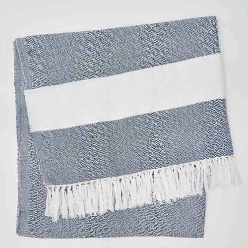 Weaver Green - Hammam Throw - Navy