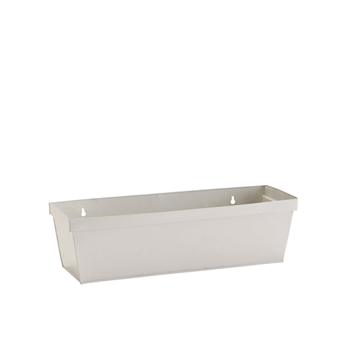 white window box planter metal