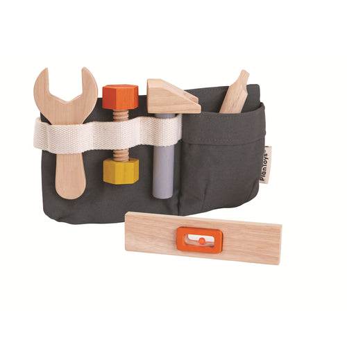 wooden toy tool belt canvas
