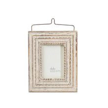wooden white photo frame