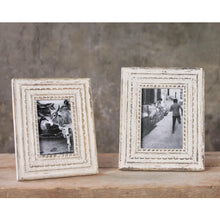wooden white photo frame standing