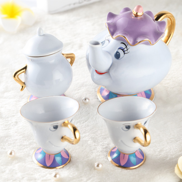 Belle en het Beest theepot set - Mermaids vs Unicorns