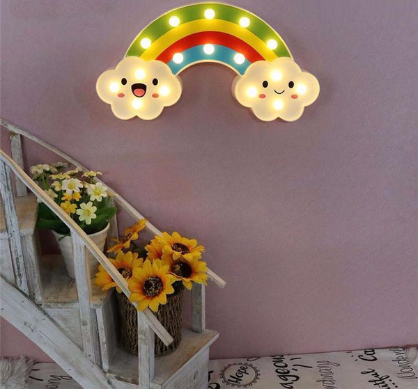 LED regenboog nachtlamp - Mermaids vs Unicorns