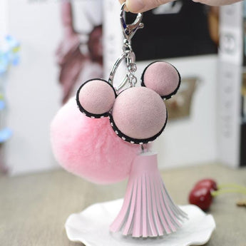 Mickey Mouse Pompom Sleutelhanger Deluxe - Mermaids vs Unicorns