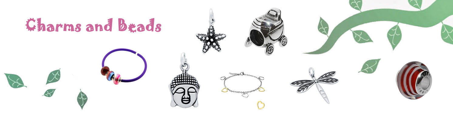 Kooqi Jewellery Sterling Silver Charms and Beads