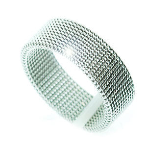 Mens Stainless Steel Mesh Ring