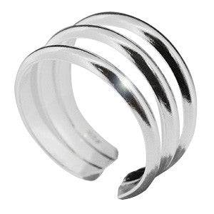 Kooqi Chunky 925 Sterling Silver Toe Ring
