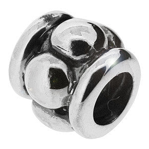 Genuine Biagi 925 Sterling Silver Charm Bead with Wheels and Bubbles