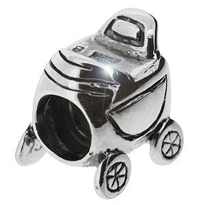 Biagi Sterling Silver Baby Carriage Charm Bead