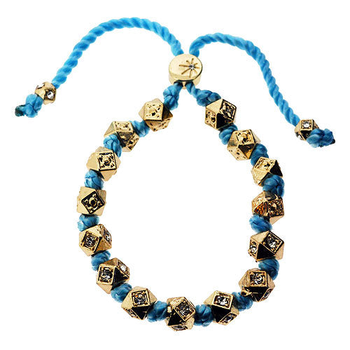Turquoise and Sparkling Octagon Chinese Bead Bracelet