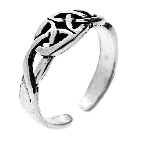 925 Sterling Silver Celtic Circle Toe Ring