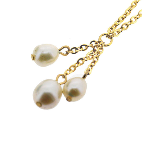 June Birthstone Gold and Natural Freshwater Pearls Necklace